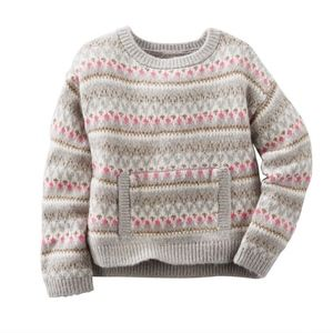 OshKosh gray Fair Isle print sweater